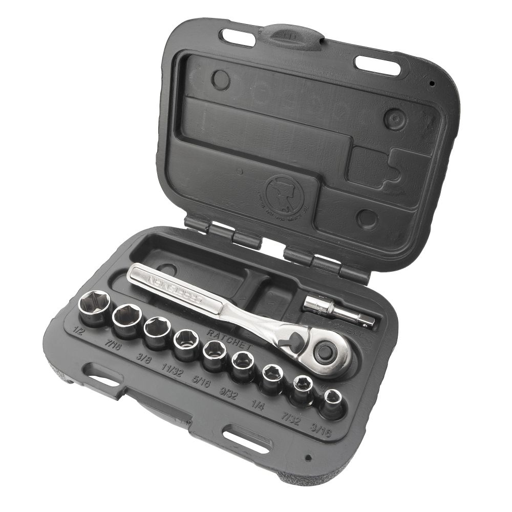 11 pc. 6 pt. Standard 1/4 in.Socket Wrench Set