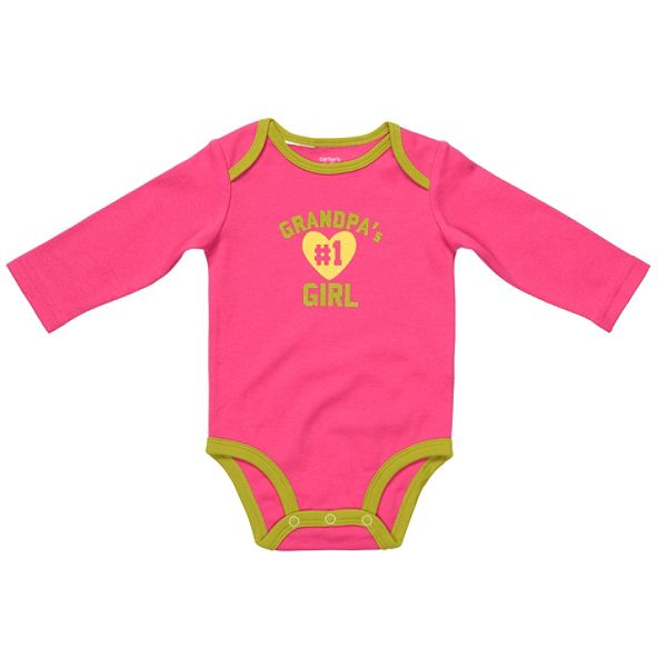 Carters Newborn Girls Slogan Bodysuit