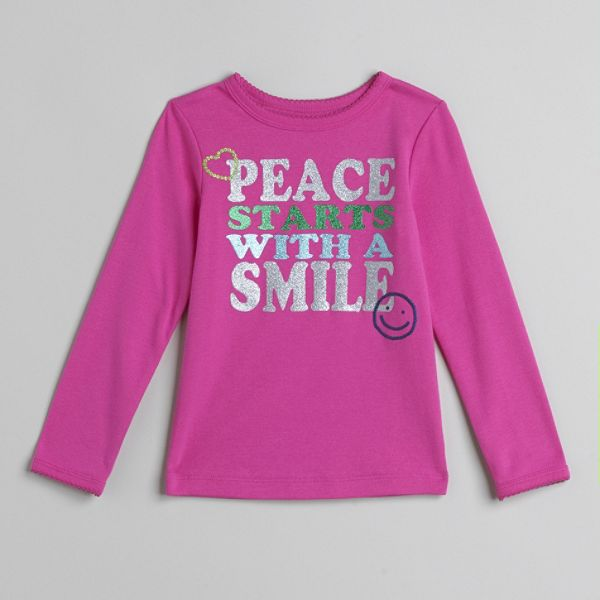 Carters Toddler Girls Peace Graphic Tee