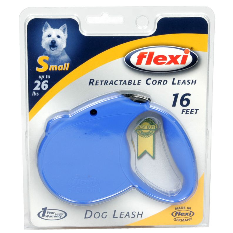 Flexi Retractable Cord Leash, 16 Feet, Small (Up to 26 lbs), 1 leash