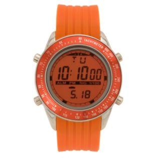 US Polo Assn.  Mens Calendar Day/Date Sport Watch w/Round Orange