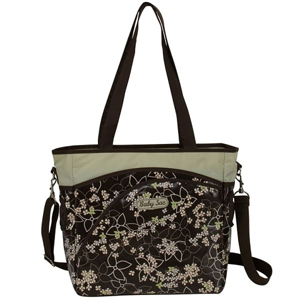 Cudlie Brown And Green Floral Diaper Bag