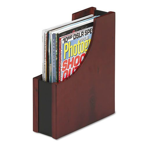 Rolodex Eldon Wood And Faux Leather Magazine File $ 29.68