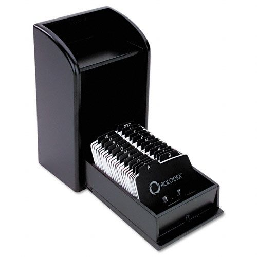 Rolodex Wood Tones Photo Frame Business Card File $ 56.99