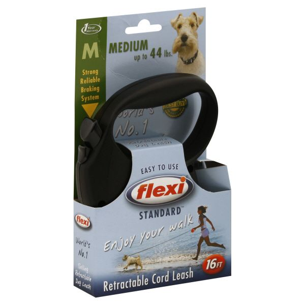Flexi Standard Retractable Cord Leash, Medium, 16 Ft, 1 leash