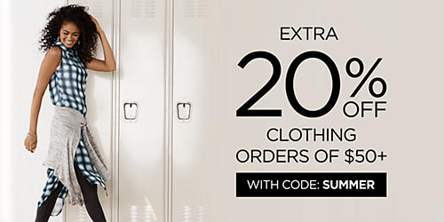 Up to 50% off back to school fashion