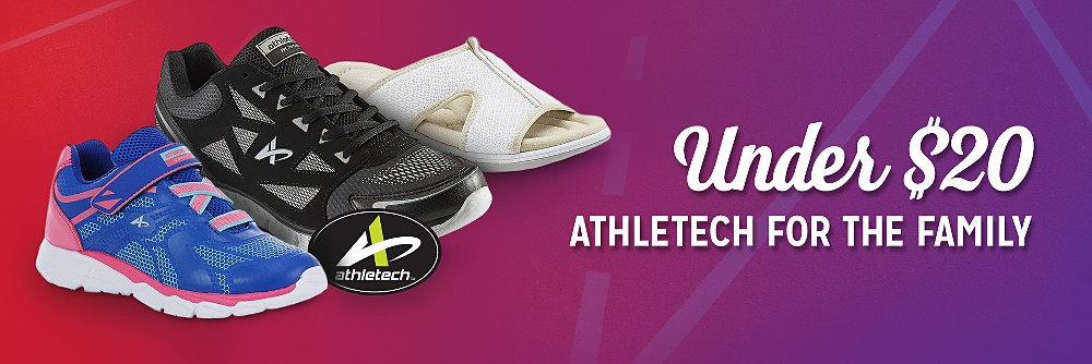Athletech athletic shoes for the family