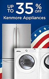 up to 35% off Kenmore appliances