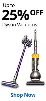 up to 25% off Dyson vacuums