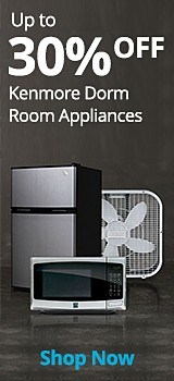 up to 30% off Kenmore Dorm Room Appliances