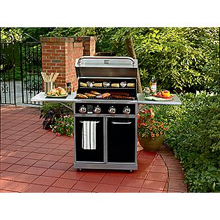 Kenmore 4-Burner Gas Grill with Folding Side Shelves, 48,000 BTU LP