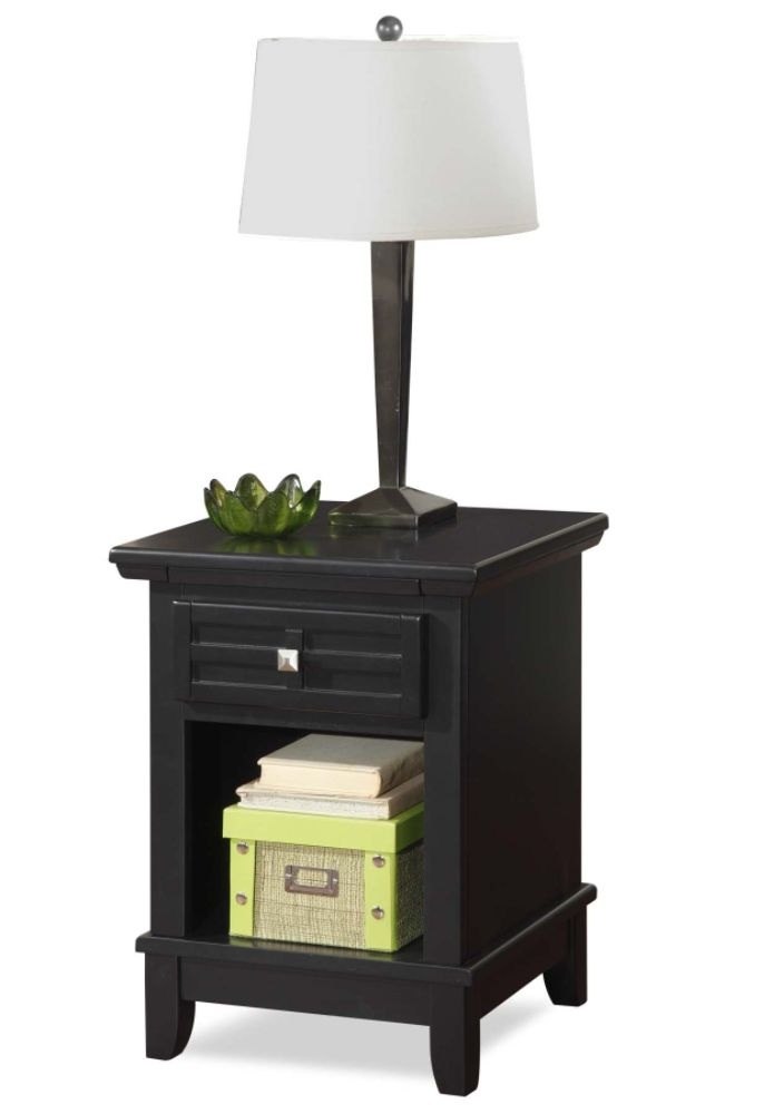 Home Styles Arts & Crafts Night Stand Black