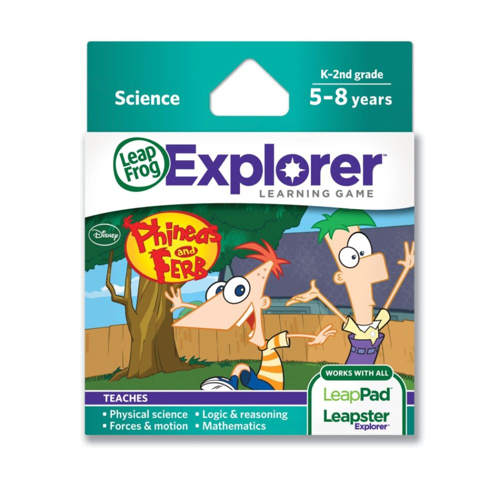 LeapFrog Explorer Learning Game: Disney Phineas and Ferb (works with LeapPad & Leapster Explorer)