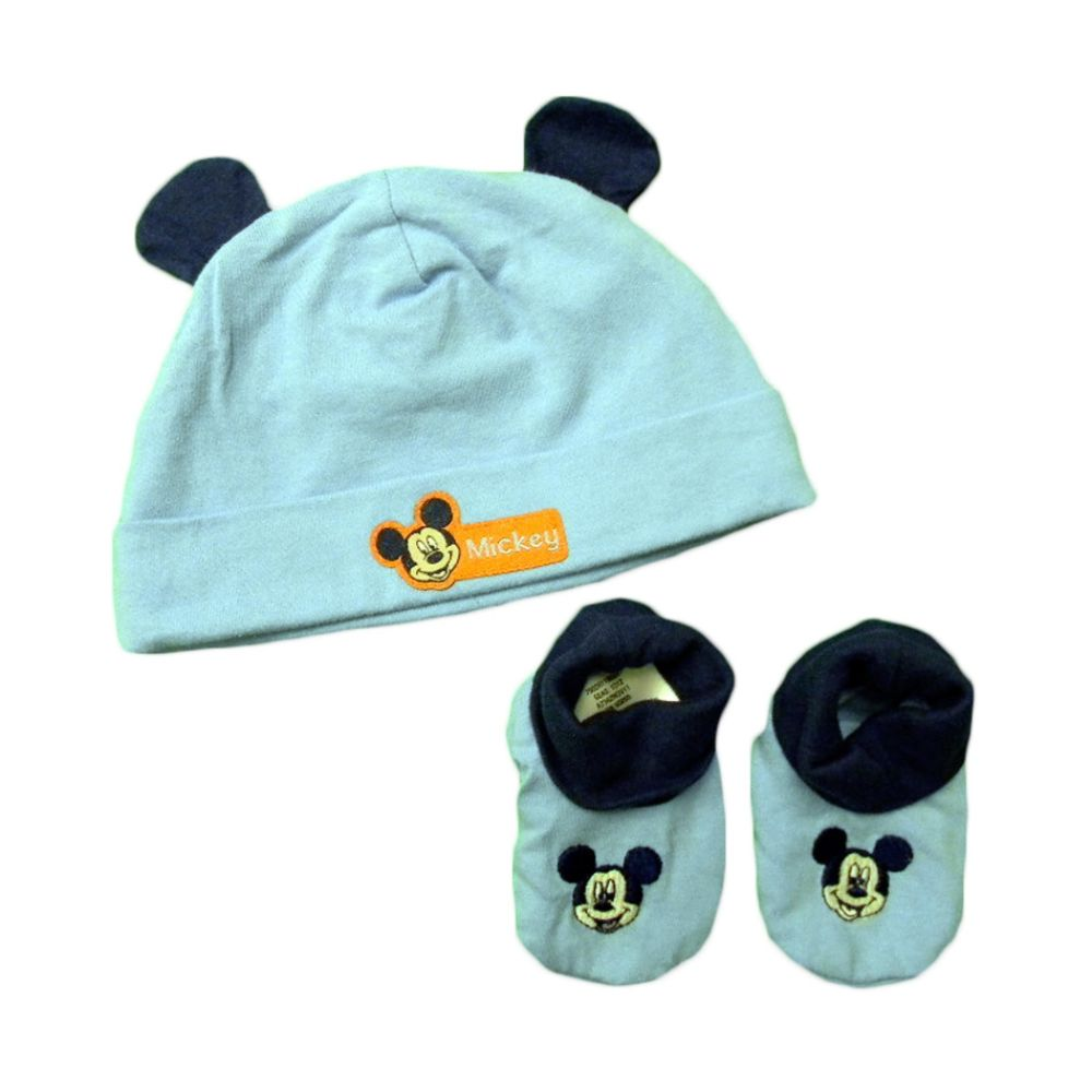 Disney Mickey Baby Boy s Cap/Bootie Set 2pc Mickey Light Blue