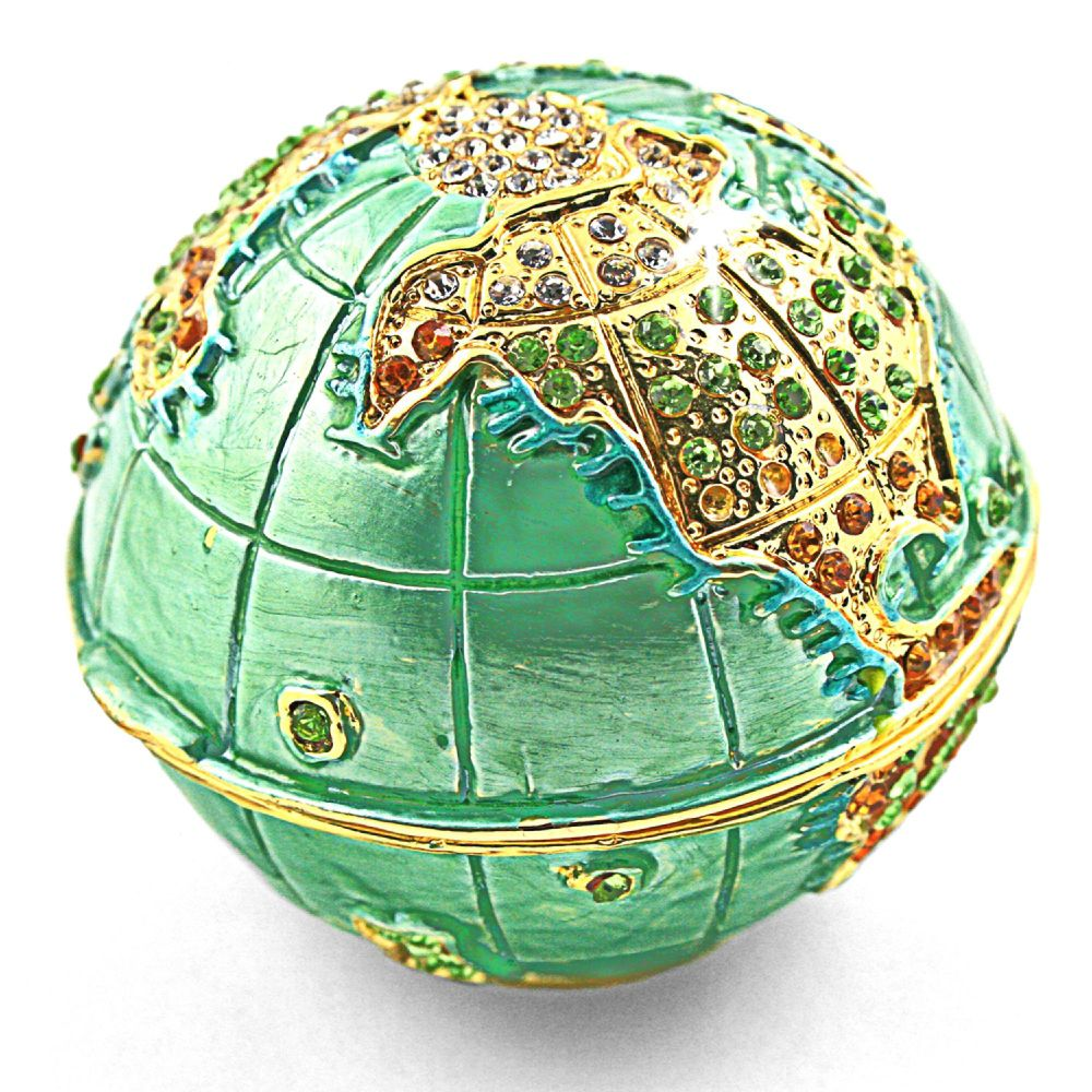 Objet d'art 'Mother Earth' Earth Globe