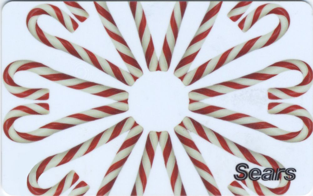 Candy Cane Ornament Gift Card