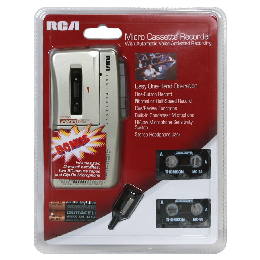 RCA Micro Cassette Recorder with Bonus, 1 recorder