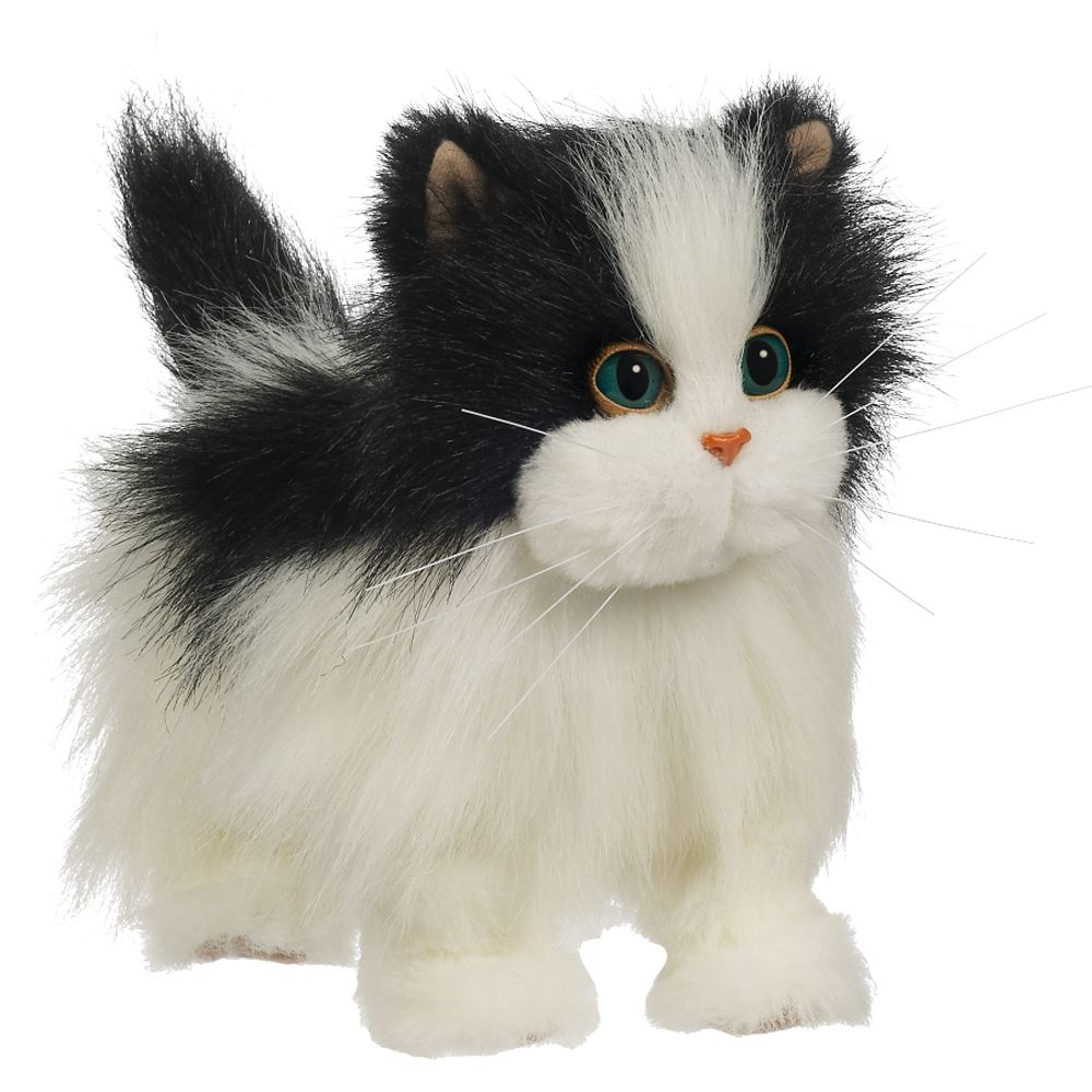 Fur Real Lulu s Walking Kitty - White Black
