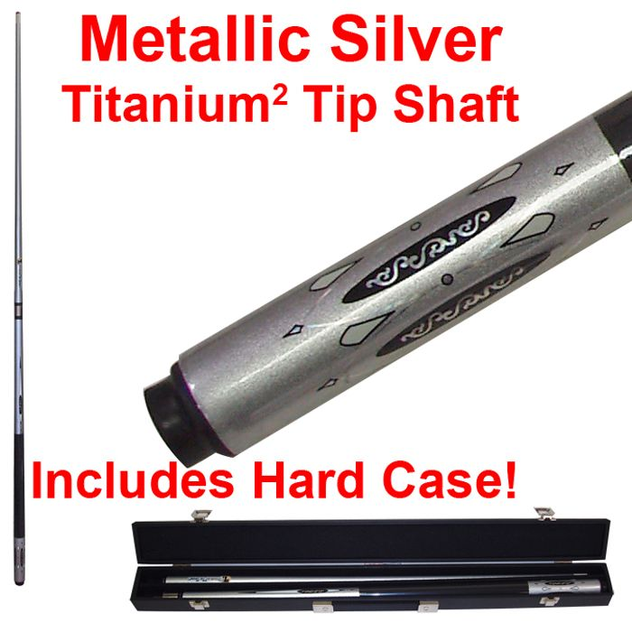 Metallic Silver Billiard Titanium Pool Cue Stick