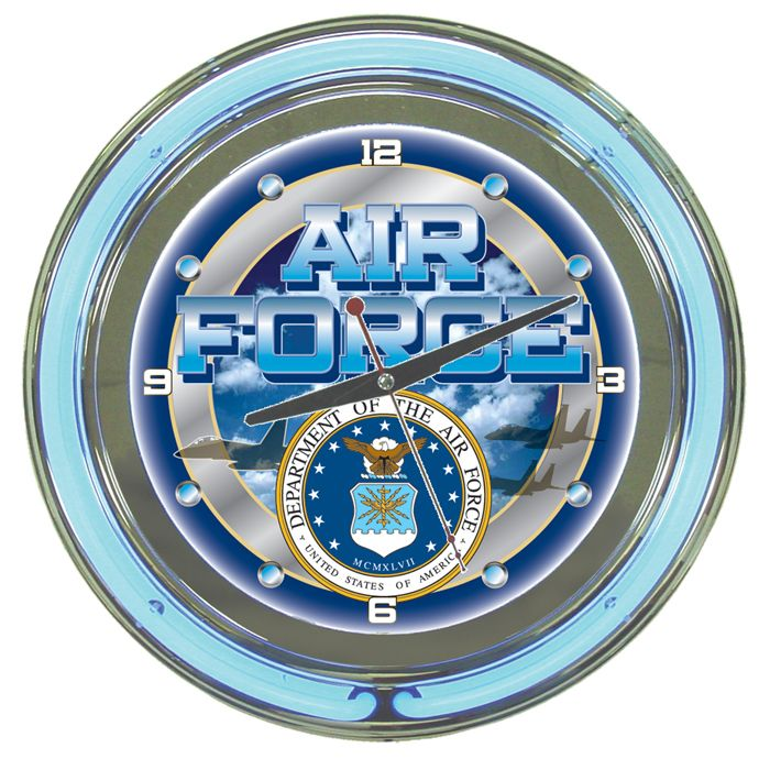 Trademark US Air Force Logo Neon Clock - 14 inch Diameter Reviews