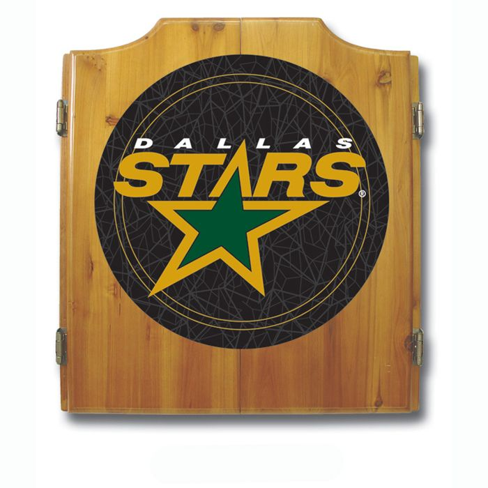 Trademark NHL Dallas Stars Jackets Dart Cabinet including Darts and Board