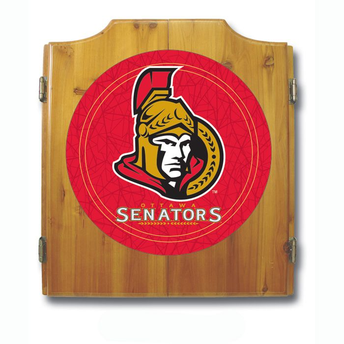 Trademark NHL Ottawa Senators Dart Cabinet including Darts and Board
