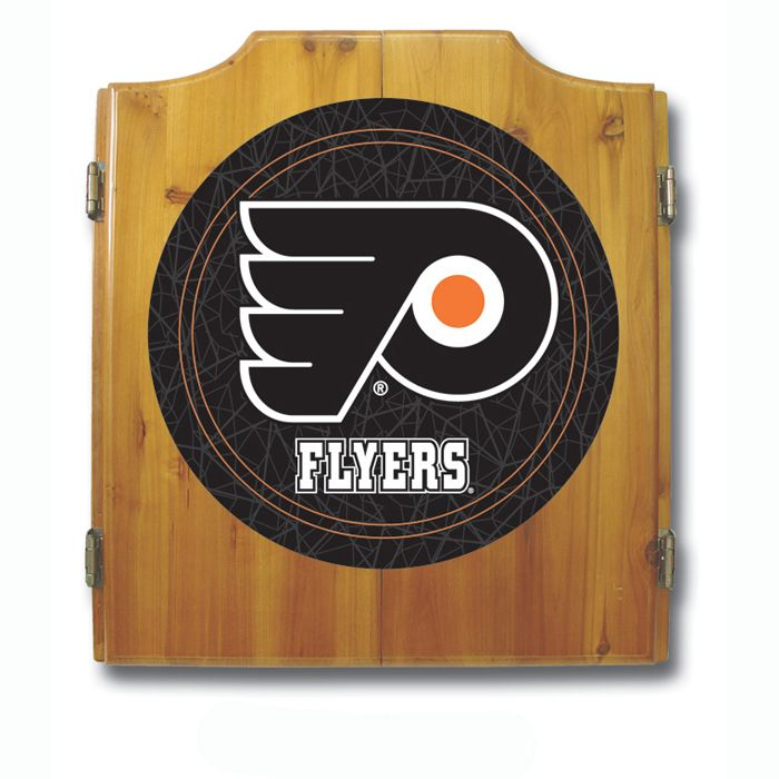 Trademark NHL Philadelphia Flyers Dart Cabinet including Darts and Board