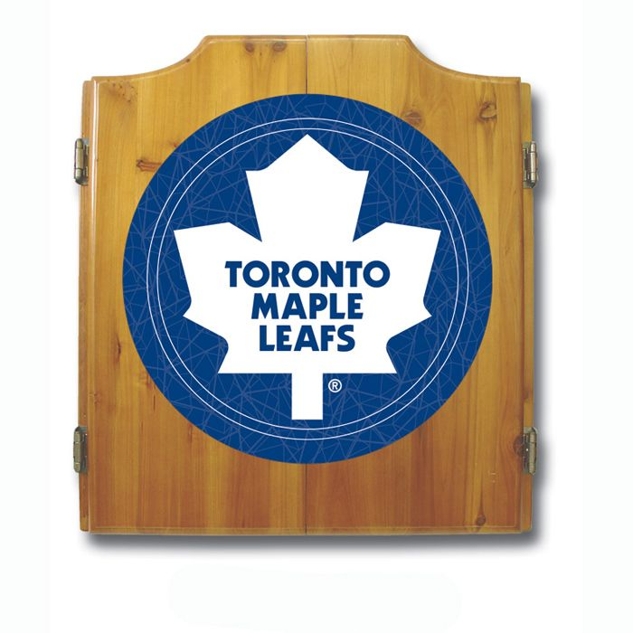 Trademark NHL Toronto Maple Leafs Dart Cabinet including Darts and Board