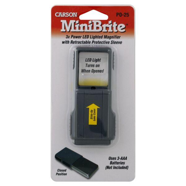 Carson Magnifier, MiniBrite, 1 magnifier
