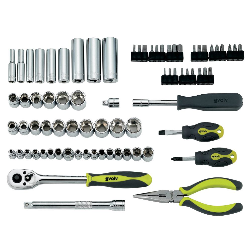 77 pc. Mechanics Tool Set