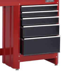 Craftsman  5-Drawer Workbench Module - Red/Black