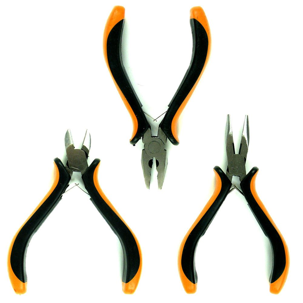 Professional 3 Piece Mini Plier Set