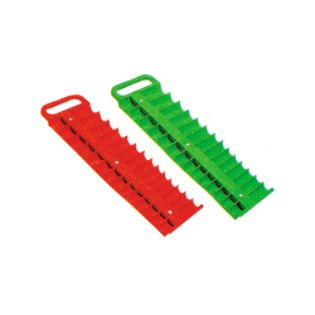 Lisle  3/8 in. Drive Green Magnetic Socket Holder for 28 Sockets