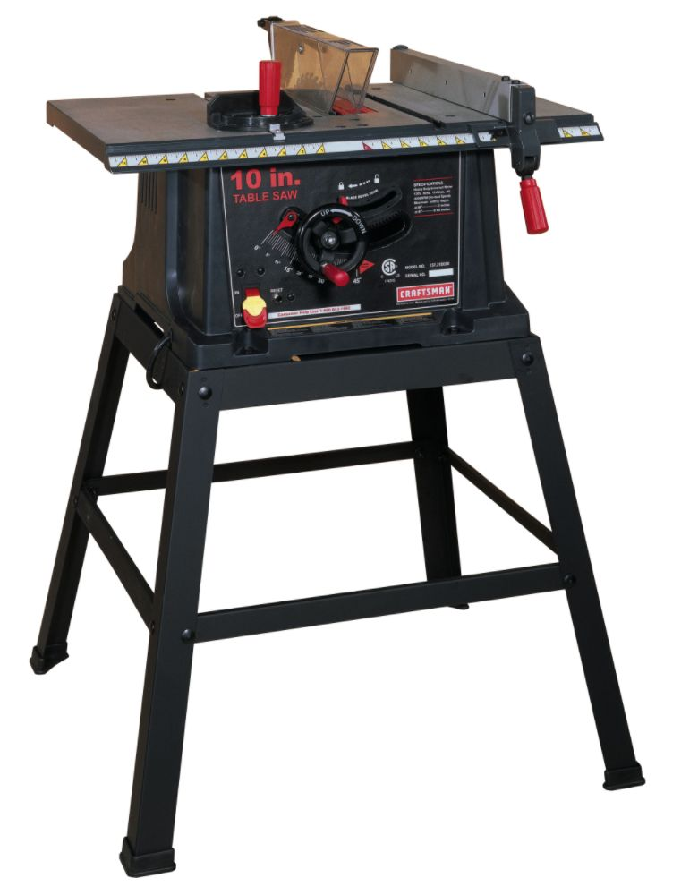Looking for first table saw woodworking talk for 10 in table saw craftsman