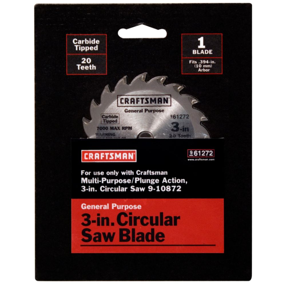 3 in. Carbide-Tipped Circular Saw Blade - 20T