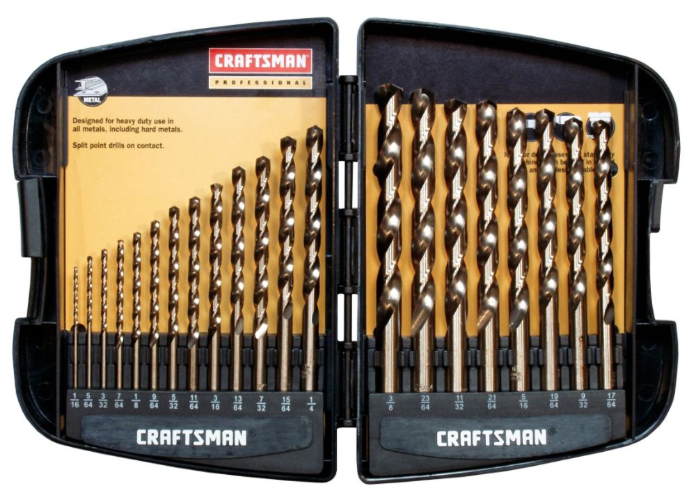 21 pc. Cobalt Drill Bit Set