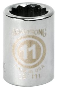Armstrong 19 mm socket, 12 pt. STD, 3/8 in. drive