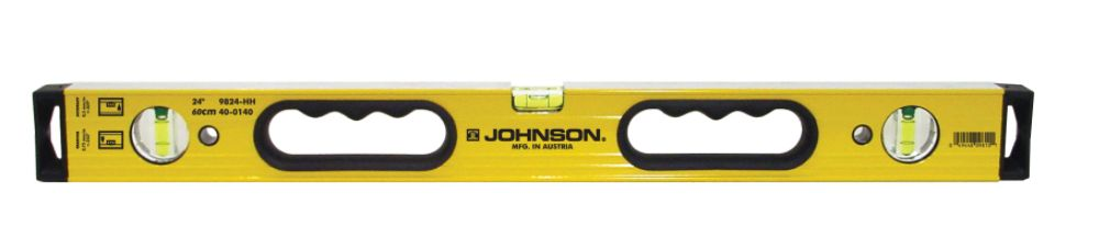 96 in. Alum Box Beam Level w/Hang Holes