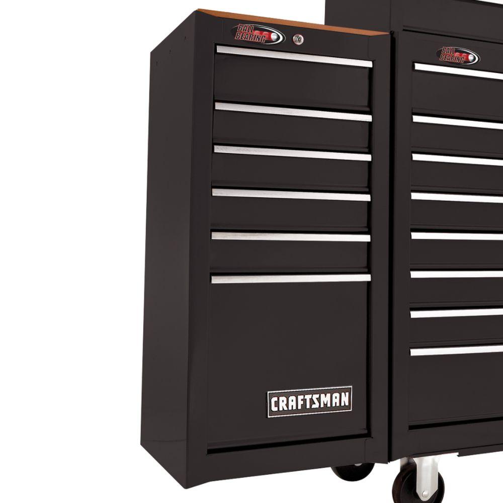 craftsman 6 drawer ball bearing side chest blackcraftsman 82559. Black Bedroom Furniture Sets. Home Design Ideas