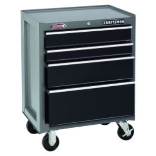 Craftsman  26'' Wide 4-Drawer Ball-Bearing Bottom Chest - Platinum/Black