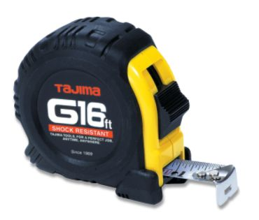 Tajima Tool Corp  G-16 16 ft. shock resistant tape measure