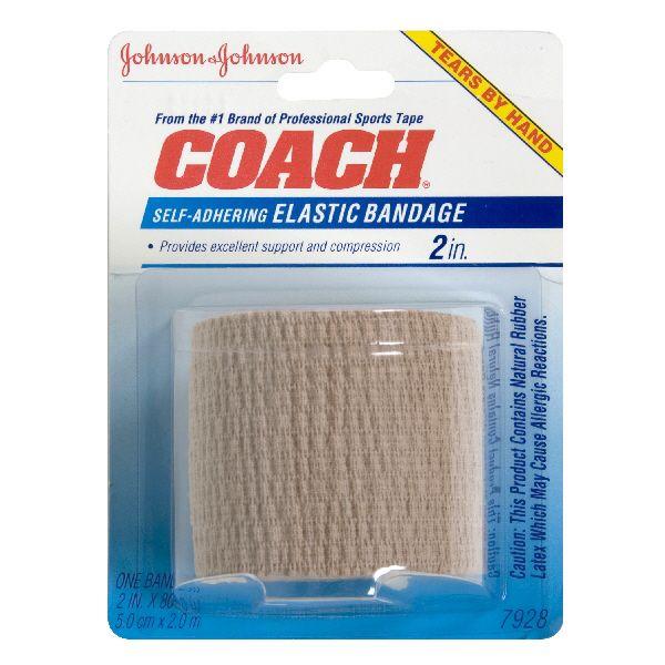 Johnson and Johnson Coach Self Adhering Elastic Bandage 2 Inch 1 bandage JOHNSON and JOHNSON HEALTH BABY