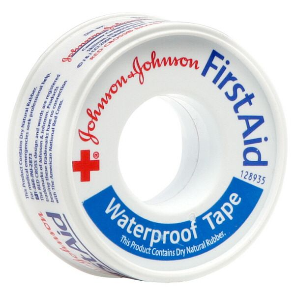 Johnson and Johnson First Aid Waterproof Tape Heavy Duty 1 roll JOHNSON and JOHNSON HEALTH BABY