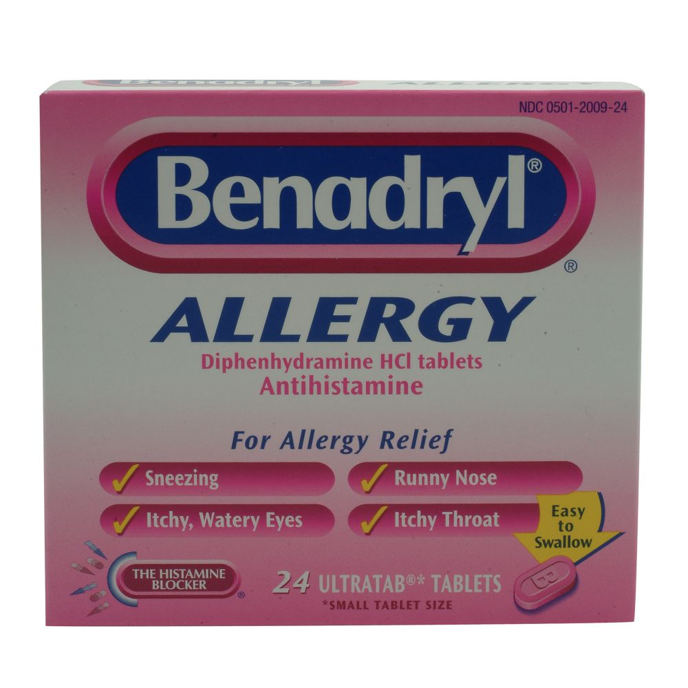 Benadryl Allergy Ultratabs Dosage