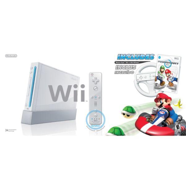 Nintendo Wii Console with Mario Kart - White