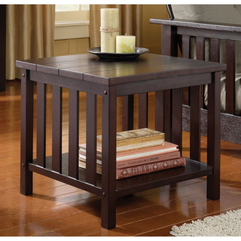 Furniture Living Room Furniture Square End Table Mission Square End Table