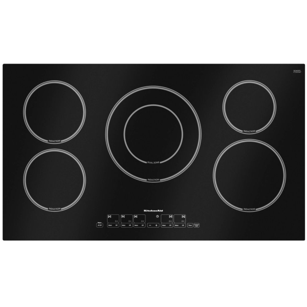 Kitchenaid Electrics on Kitchenaid 36  Induction Electric Cooktop Kicu568sb Reviews   Mysears