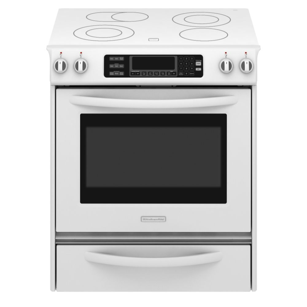 kitchen ranges on kitchenaid 30 self cleaning slide in electric range