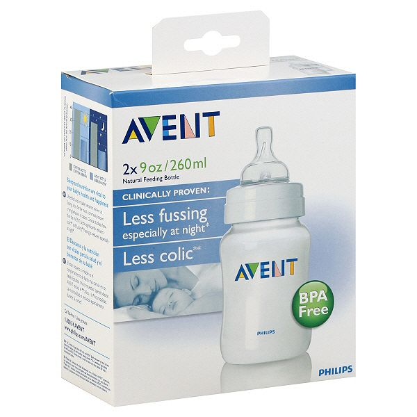 Avent Bottles Natural Feeding 9 Oz 1 M 2 Bottles