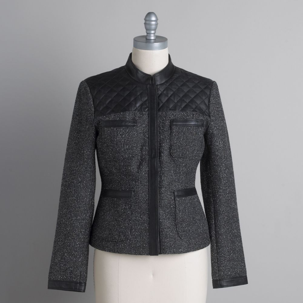 quilted leather jacket. Tweed amp; Quilted Leather 4